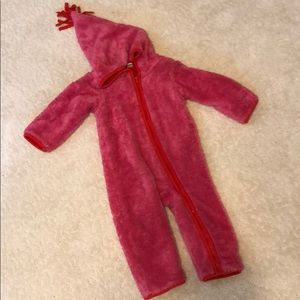 Fleece lined winter baby bunting